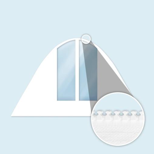Wand Sternzelt mit Bogenfenstern, schmal, weiß