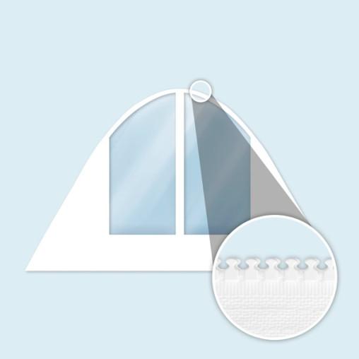 Wand Sternzelt mit Bogenfenstern, breit, weiß