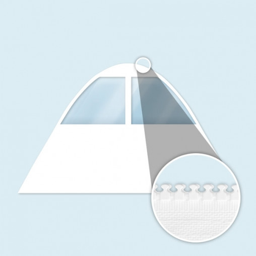 Wand Sternzelt mit Trapezfenstern, weiß