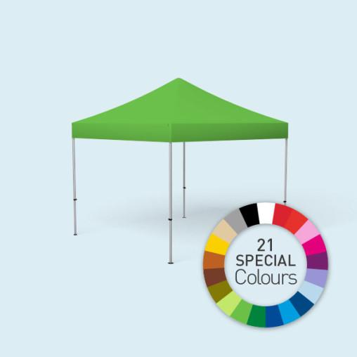 Faltpavillon Select, 3 x 3 m, gedruckt in Sonderfarben, Farbbeispiel grün