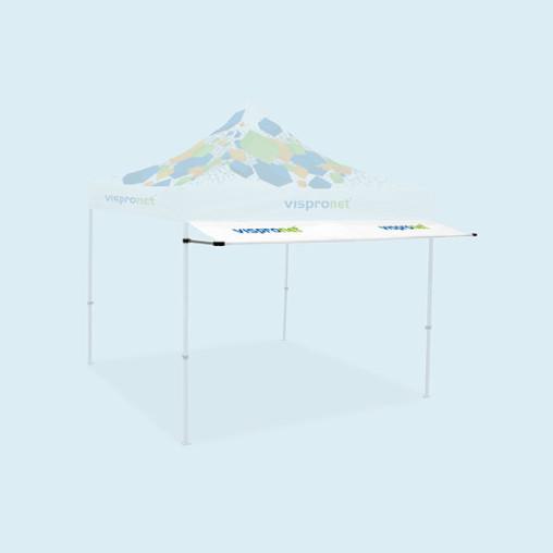 Zeltvordach für Faltzelte Basic und Select, mit Druck (in 2 Breiten erhältlich)