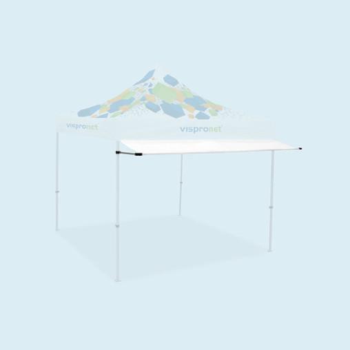 Vordach für Faltzelte Basic und Select, weiß, ohne Druck (2 Breiten erhältlich)