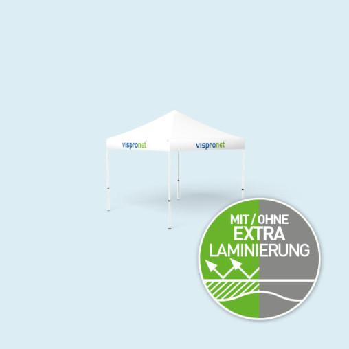 Faltpavillon Eco 3 x 3 m, nur Volant mit Druck, ohne Zeltwände