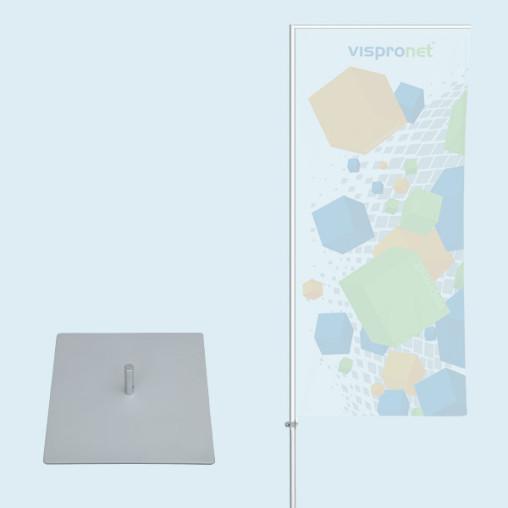 Fahnenstange Economy mit Bodenplatte 30 x 30 cm/4,3 kg