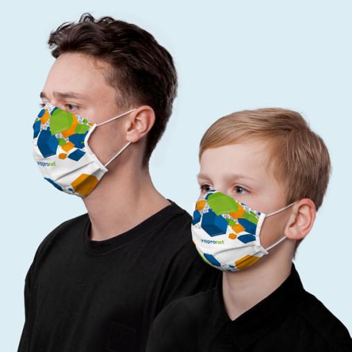 Personalisierbare Mund- und Nasenmaske mit individueller Bedruckung