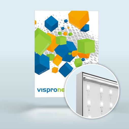 Leuchtkasten Q-Frame® LED, Profil 50 mm, im Hochformat