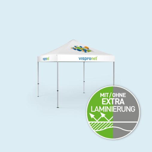 Faltpavillon Select 3 x 3 m, Dach & Volant mit Druck, ohne Zeltwände