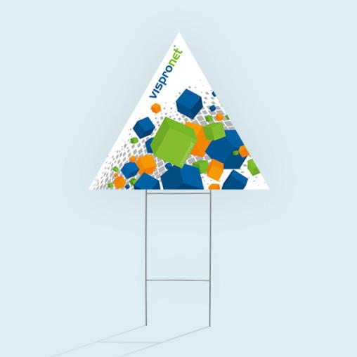 Gartenschilder, dreieckig, Spitze nach oben