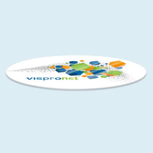 Schutzplatte für Tische oval, bis 200 x 300 cm (Breite x Länge)
