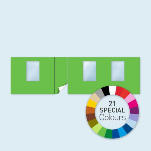 Wand m. Tür linksseitig & 3 Fenstern 800 x 220 cm, in 21 Sonderfarben erhältlich
