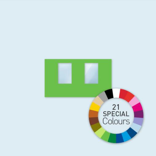 Wand mit 2 Fenstern 400 x 220 cm Select, in 21 Sonderfarben erhältlich