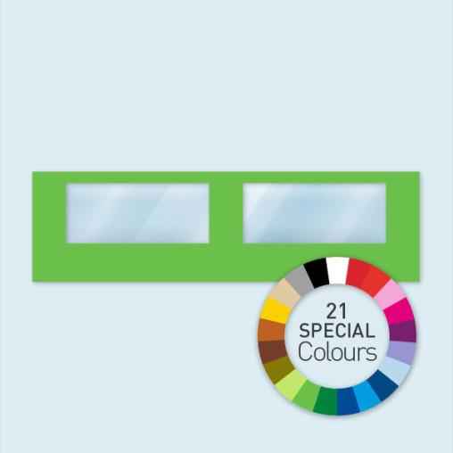 Wand mit 2 Panoramafenstern 800 x 220 cm, in 21 Sonderfarben erhältlich