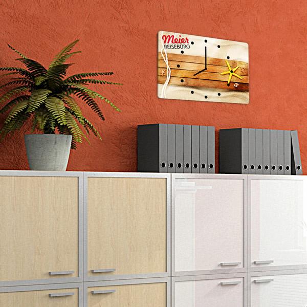 wanduhren bedrucken rechteckige fotouhren selbst gestalten. Black Bedroom Furniture Sets. Home Design Ideas
