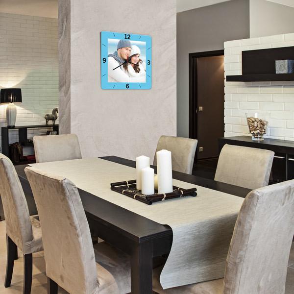 foto wanduhren quadratisch selbst gestalten kaufen. Black Bedroom Furniture Sets. Home Design Ideas