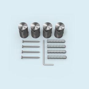 Klemmhalter Edelstahl ø 15 mm/15 mm für Plattenstärke 2-5 mm