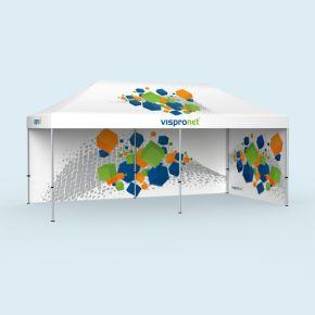 Faltzelt Select 3 x 6 m, 2 Wände, mit Druck