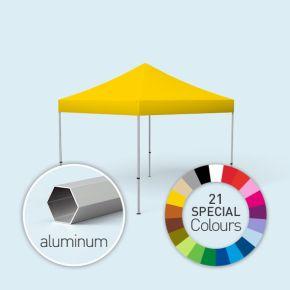 Faltpavillon Select, Dach & Volant in Sonderfarben, ohne Wände