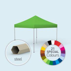 Faltpavillon Basic, in 3 Größen und 21 Sonderfarben erhältlich