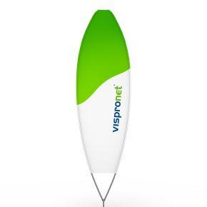 Beachflag® Surfer, Hohlsaum bedruckt - ca. 10 % mehr Werbefläche