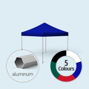 Faltpavillon Select, Dach & Volant in Grundfarben, ohne Wände
