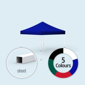 Faltpavillon Eco, Dach & Volant in Grundfarben, ohne Wände