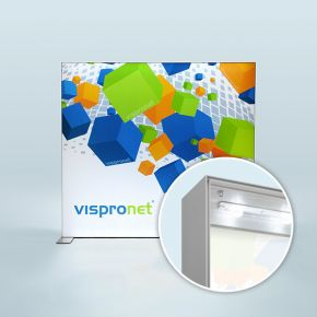 Display Wand Q-Frame® LED im Querformat