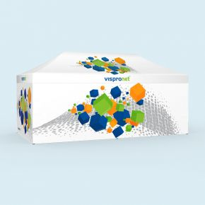 Faltzelt Select 3 x 6 m, 4 Wände, mit Druck