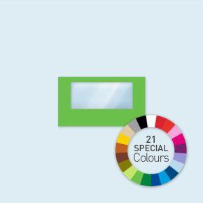 Wand mit 1 Panoramafenster Select 400 x 220 cm, in Sonderfarben, Seitenkanten mit Befestigungsschlaufen