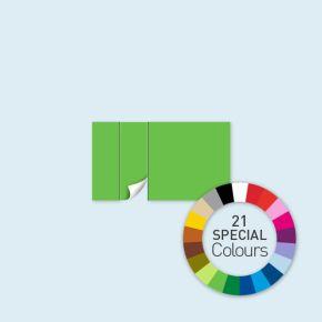 Wand mit 1 Tür links Select 400 x 220 cm, in Sonderfarben, Seitenkanten mit Befestigungsschlaufen
