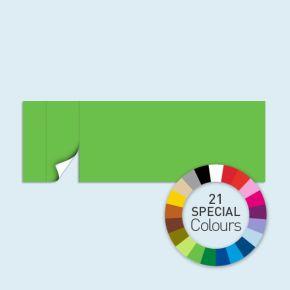 Wand mit 1 Tür links Basic/Select 600 x 205 cm, in Sonderfarben, Seitenkanten mit Befestigungsschlaufen
