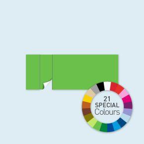 Wand mit 1 Tür links Select 600 x 220 cm, in Sonderfarben, Seitenkanten mit Befestigungsschlaufen