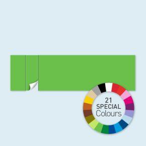 Wand mit 1 Tür links Select 800 x 220 cm, in Sonderfarben, Seitenkanten mit Befestigungsschlaufen
