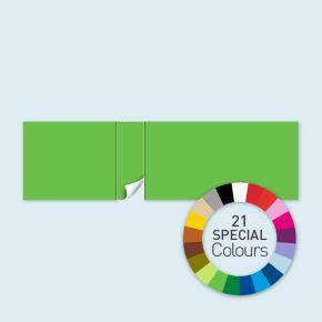 Wand mit 1 Tür linksseitig Select 800 x 220 cm, in Sonderfarben, Seitenkanten mit Befestigungsschlaufen