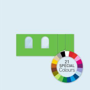 Wand m. Tür rechts & 2 Rundfenstern 600 x 220 cm, in 21 Sonderfarben erhältlich