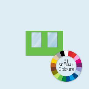 Wand mit 2 Fenstern Basic/Select/Eco 300 x 205 cm, in Sonderfarben, Seitenkanten mit Reißverschluss
