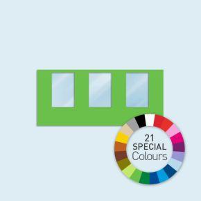 Wand mit 3 Fenstern 450 x 205 cm Basic/Select, in 21 Sonderfarben erhältlich