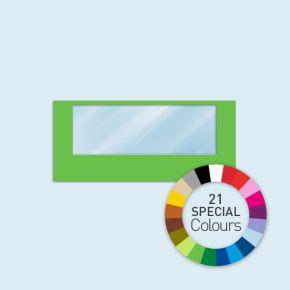 Wand mit 1 Panoramafenster Basic/Select 450 x 205 cm, in Sonderfarben, Seitenkanten mit Befestigungsschlaufen