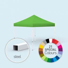 Faltpavillon Eco und 21 Sonderfarben erhältlich