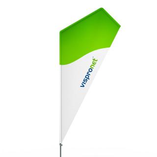 Beachflag® Razor, Hohlsaum bedruckt - ca. 10 % mehr Werbefläche