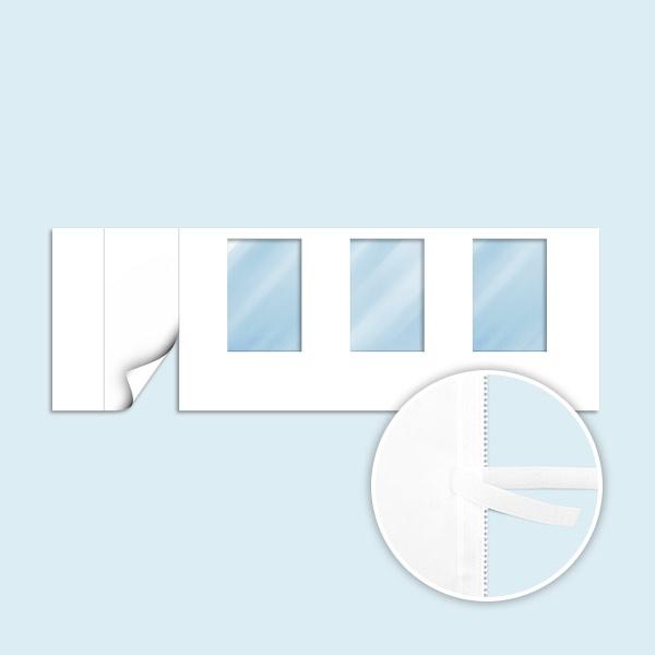 wand mit 1 t r links und 3 fenstern wei ohne druck breite 6 m f r faltpavillon zelt basic. Black Bedroom Furniture Sets. Home Design Ideas