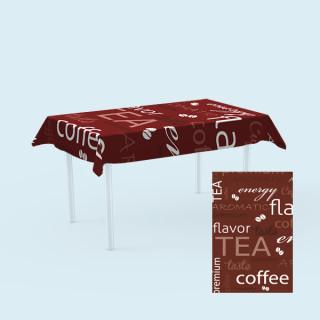 Tischdecken für Tische,  100 x 180 cm - Kaffee