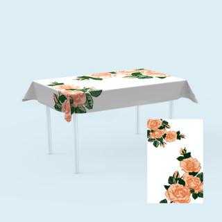 Tischdecken für Tische,  100 x 180 cm - Rose