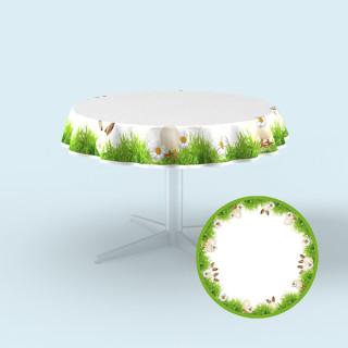 Tischdecken für Tische,           Ø 130 cm - Osterwiese