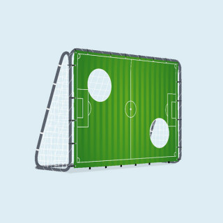 Fußballtor mit Torwand, 200 x 142 cm - Rasen