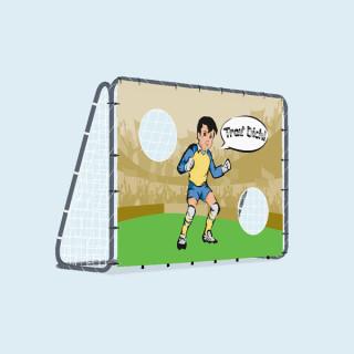 Fußballtor mit Torwand, 200 x 142 cm - Trau dich
